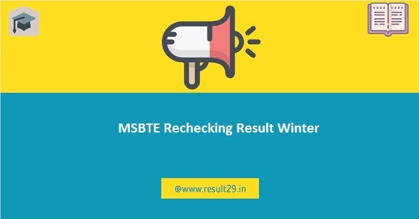 MSBTE Rechecking Result Winter
