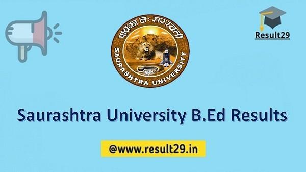 Saurashtra University B.Ed Results