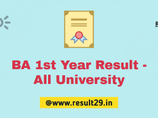 BA 1st Year Result