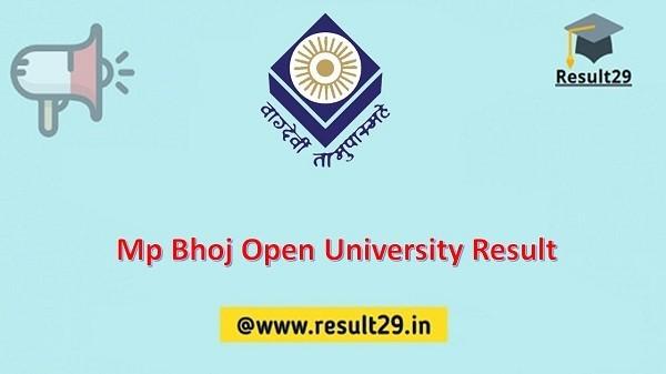 Mp Bhoj Open University Result