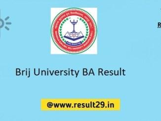 Brij University BA Result