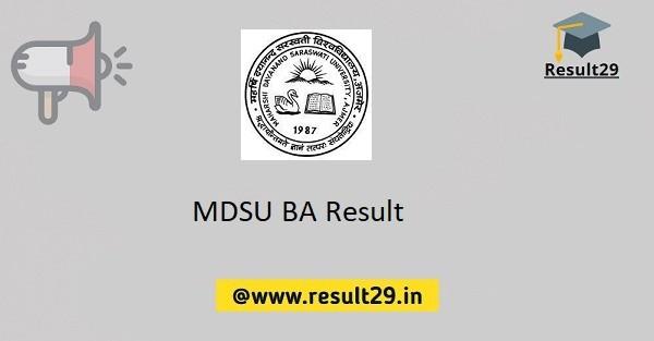 MDSU BA Result