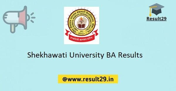 Shekhawati University BA Results