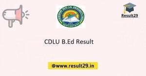 CDLU B.Ed Result