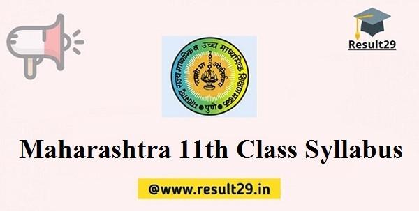 Maharashtra 11th Class Syllabus