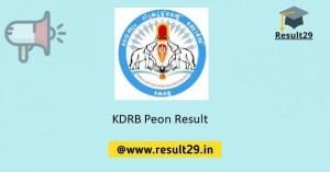 KDRB Peon Result