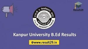 Kanpur University B.Ed Results
