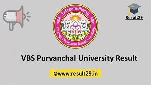 VBS Purvanchal University Result