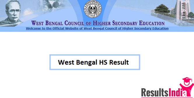 West Bengal Higher Secondary (WB HS) Result 2019