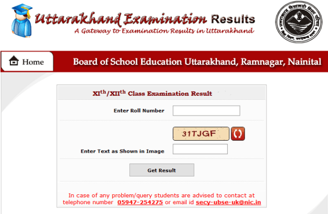 Uttarakhand UK 12th or Intermediate Result 2019