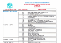cbse 12th datesheet 2020