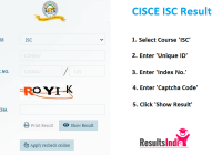 CISCE ISC 12th Class Board Results 2020