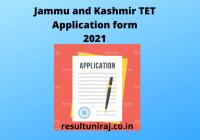 Jammu-and-Kashmir-TET-Application-form-2021