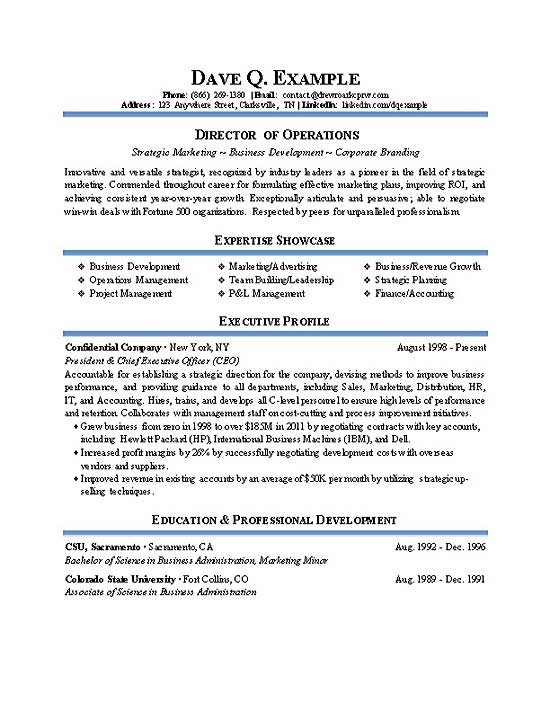 operations director resume cv example industrial management