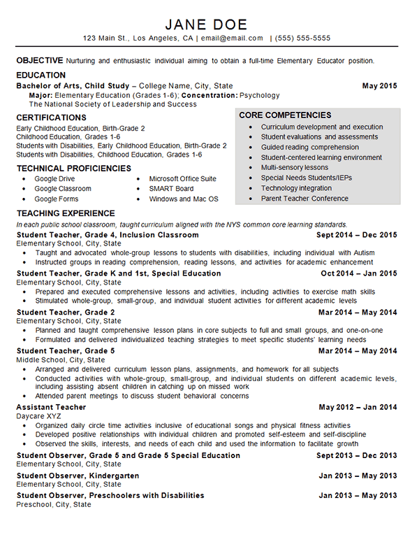 Superb Child Care Teacher Resume Example Regard To Childcare Resume