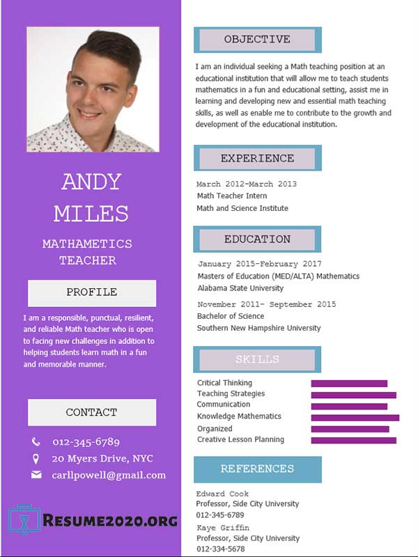 Best Resume Templates 2020 ⋆ Free 30 Examples In Docx