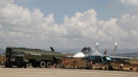 2717548 10/10/2015 Fueling a Russian Su-34 strike fighter before a mission at the Khmeimim airbase in Syria. Dmitriy Vinogradov/RIA Novosti