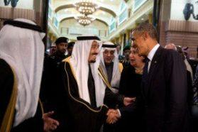 Saudi King Salman with President Obama