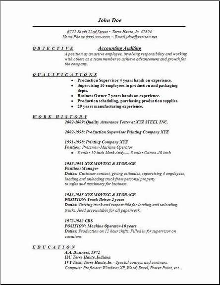 Sample Resume Objective Statements Resume Purpose Statement