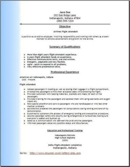 aviation resume format