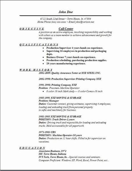 call center resume objective examples - Goal.blockety.co