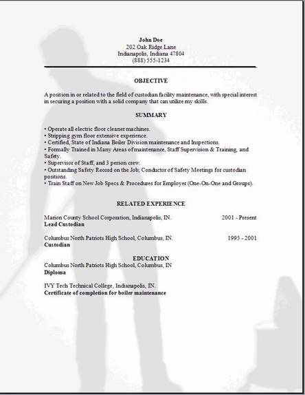 Best Residential House Cleaner Cover Letter Examples LiveCareer Pinterest  Janitor Resumes Resume Template Resume For Janitor
