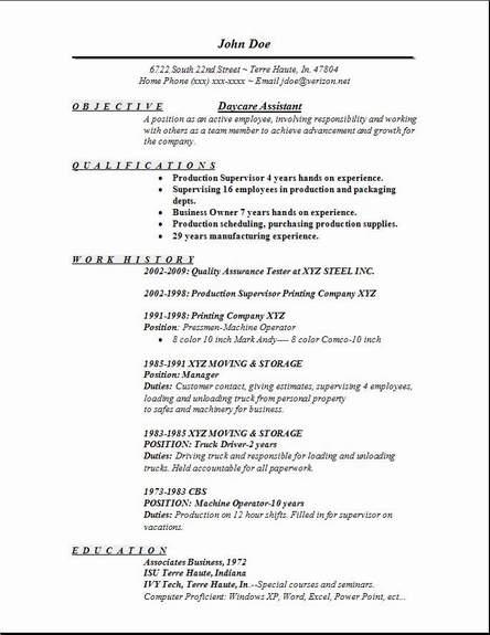 resume child care sample resume child care seangarrette childcare ...