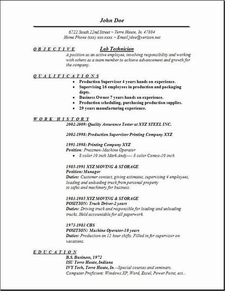 lab technician resume occupational examples samples free edit