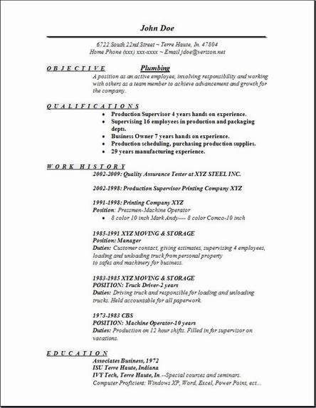 master plumber resume sle photos resume