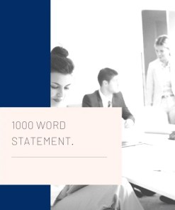 1000 Word statement job application