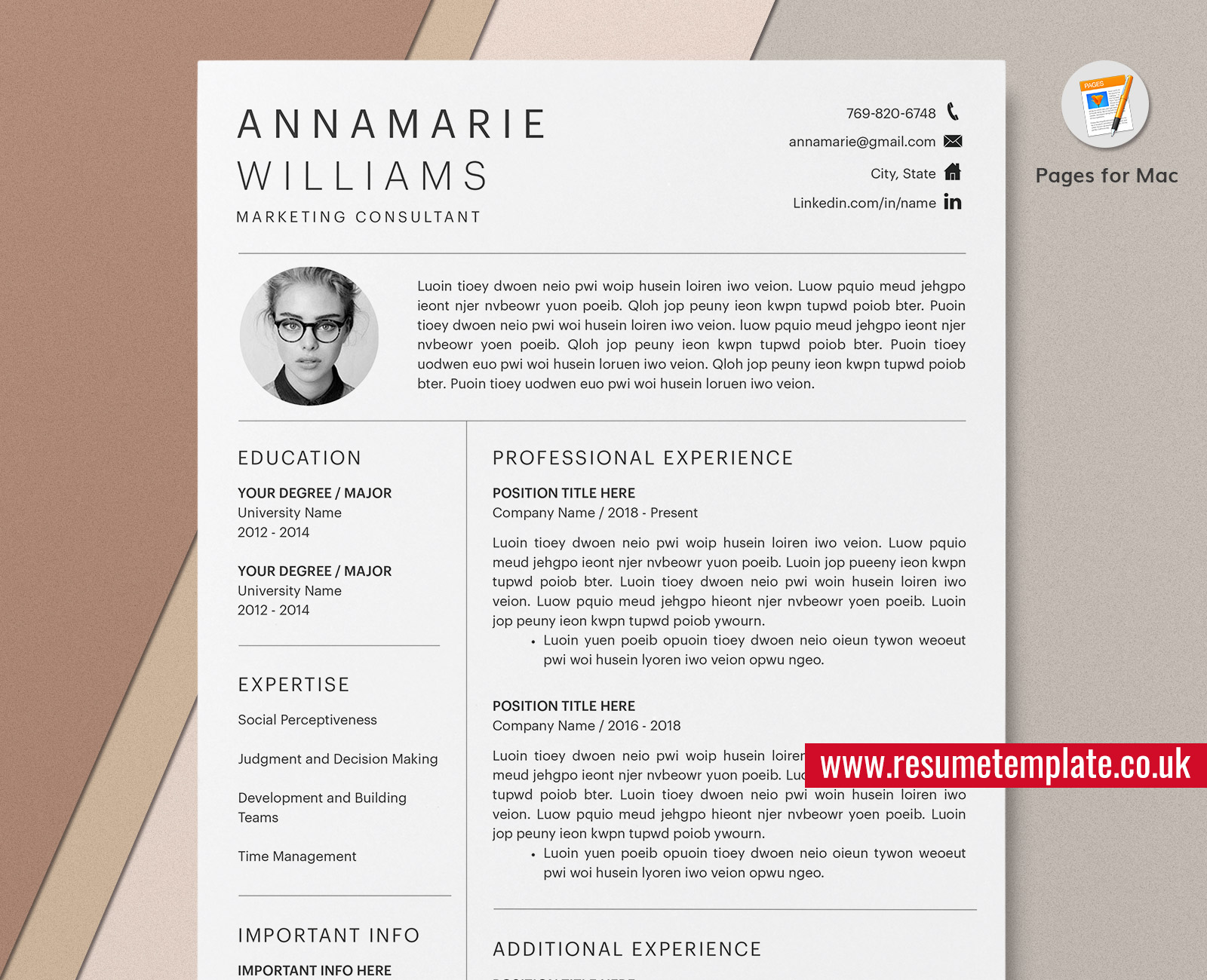 • administer patient medicine and treatment. Mac Pages Minimalist Resume Cv Template Cover Letter Curriculum Vitae Professional Cv Template Design Modern Resume For Job Application Instant Download Resumetemplate Co Uk