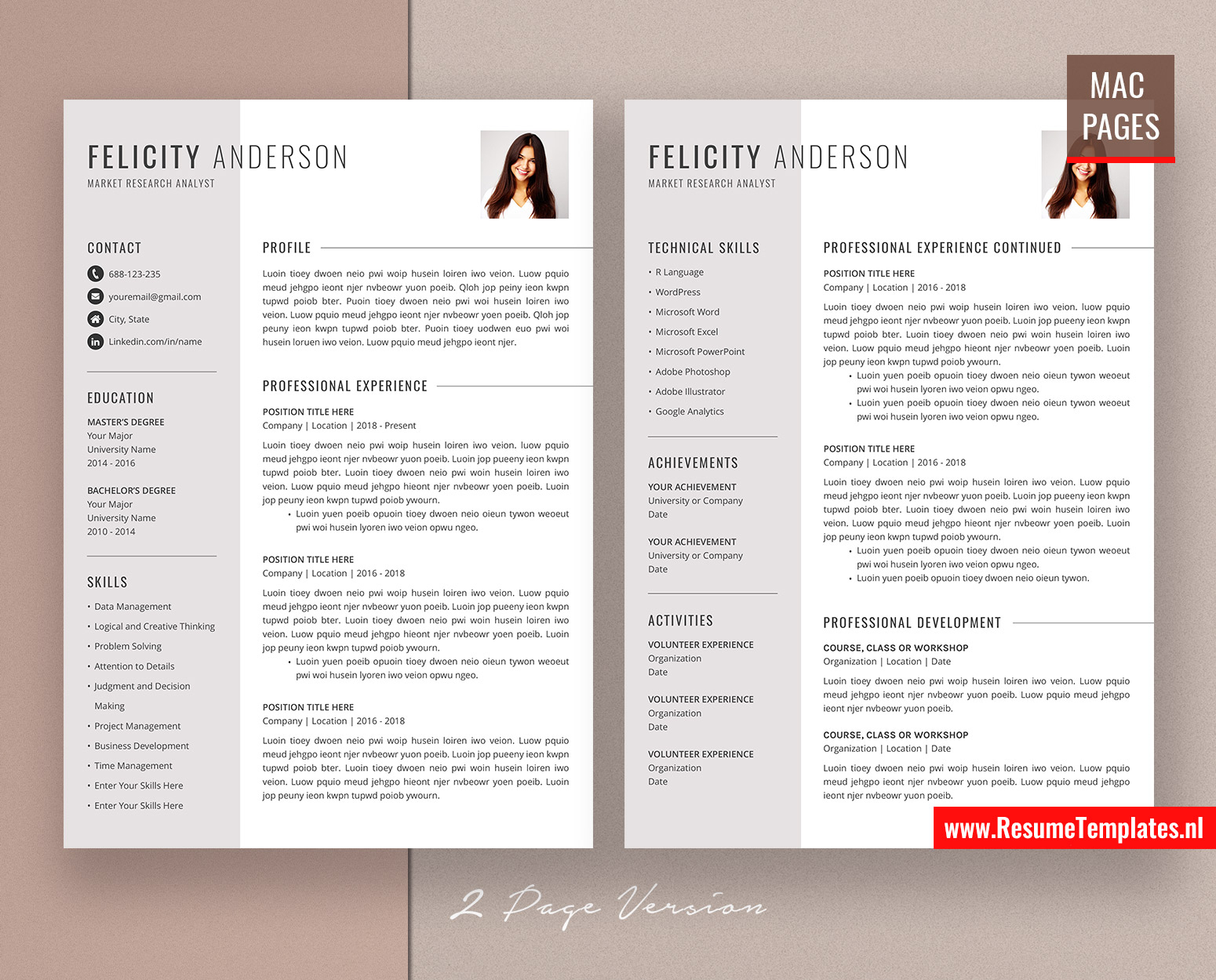 Creative cv template / resume template for mac pages, with cover letter and references template, modern and professional resume design, 1, 2 and 3 page resume, instant download. For Mac Pages Creative Cv Template Resume Template For Mac Pages Cover Letter Curriculum Vitae Modern Resume Template With Photo Clean And Professional Resume Design Instant Download Resumetemplates Nl