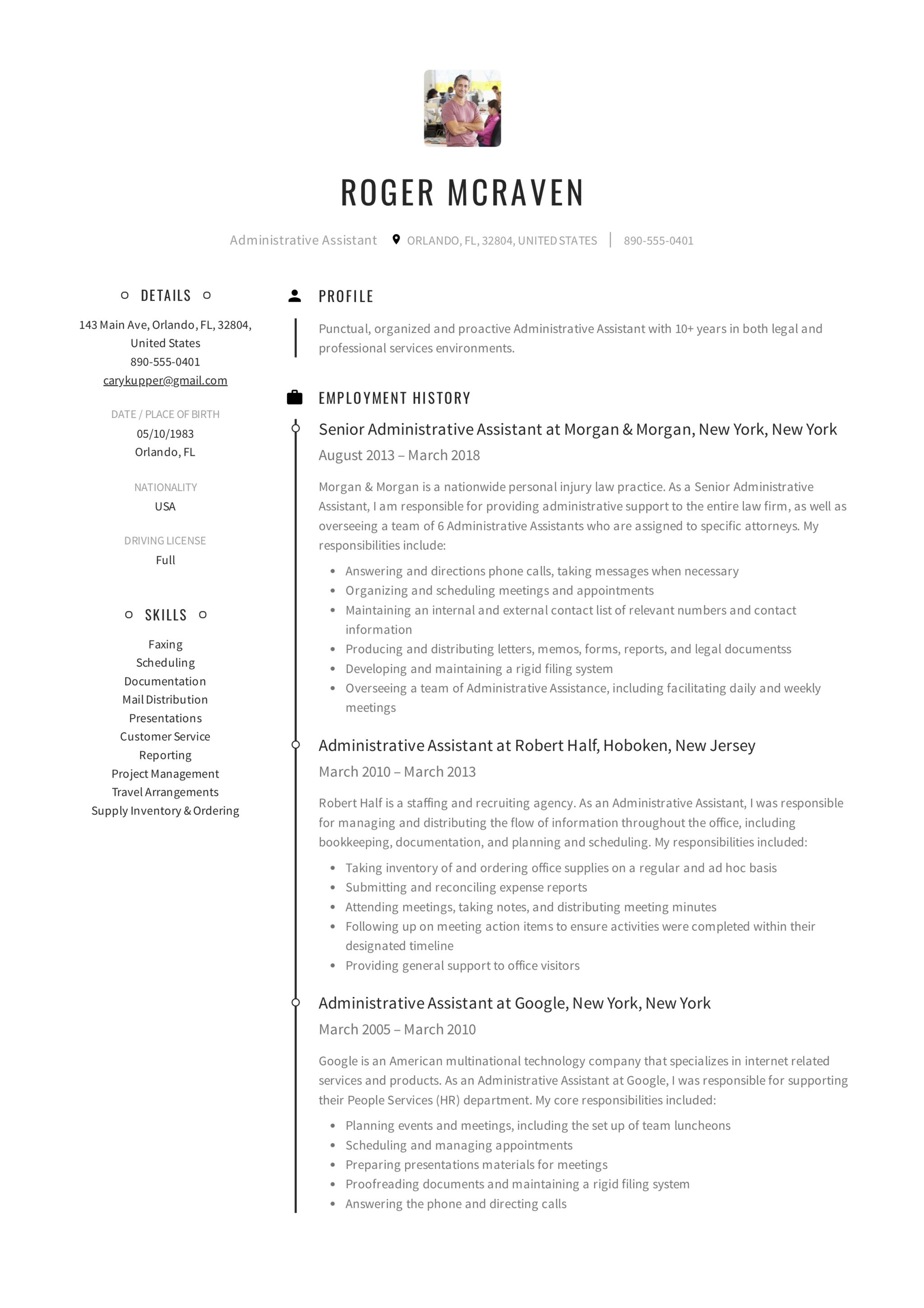 Full Guide Administrative Assistant Resume 12 Samples