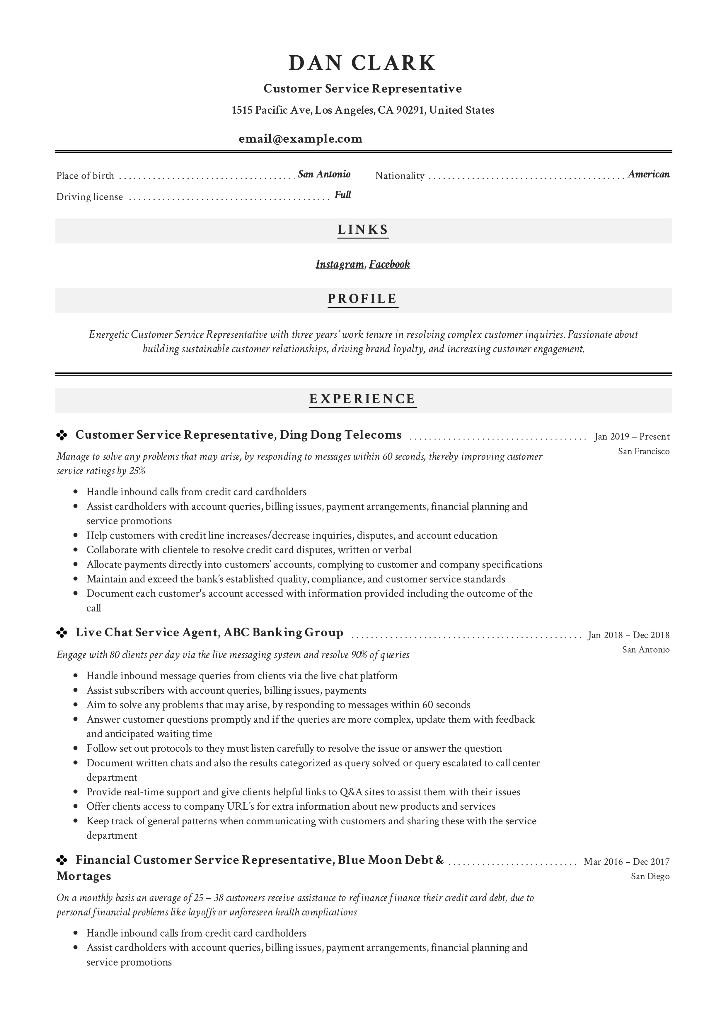 How To Customer Service Representative Resume Amp 12