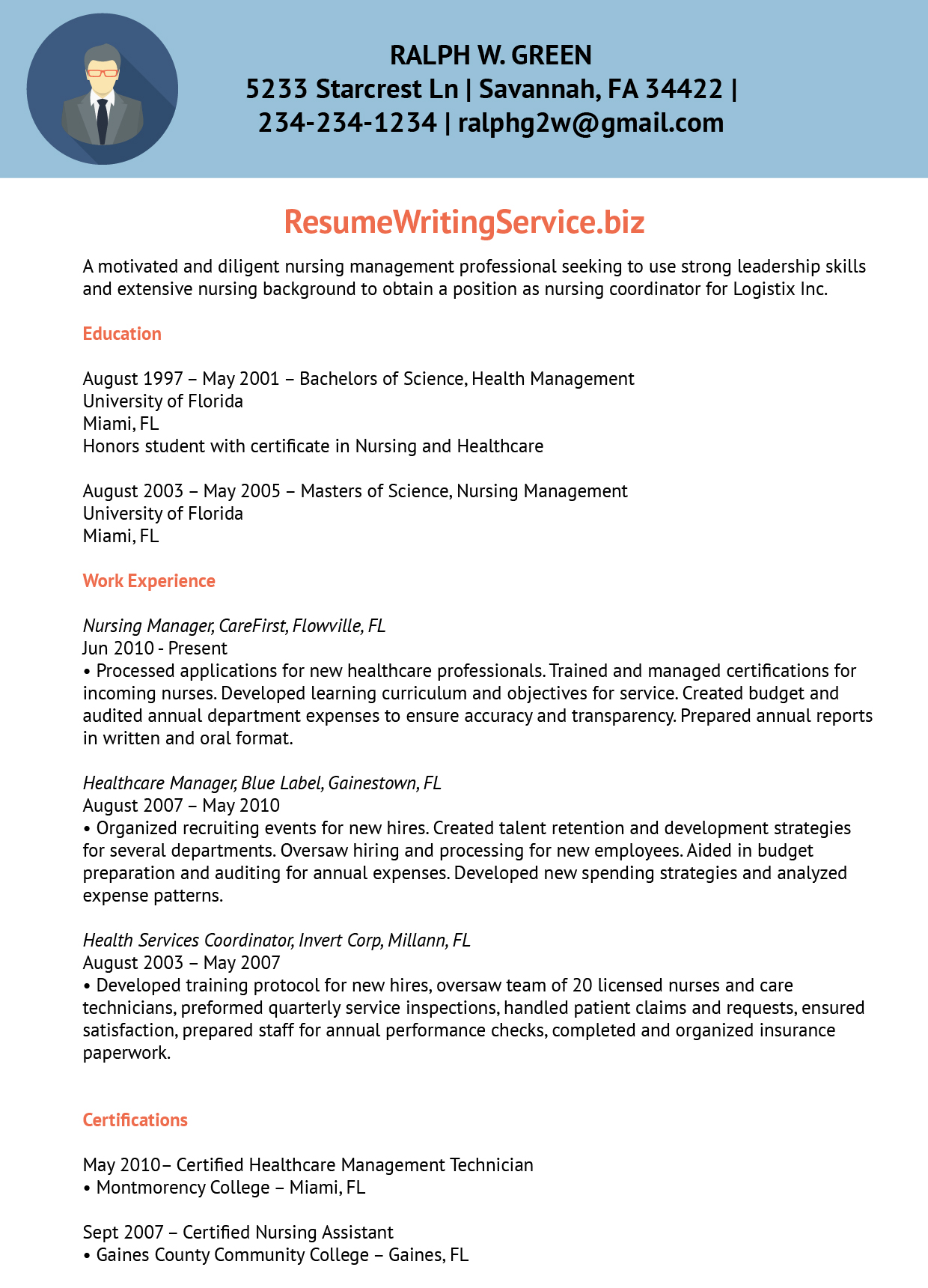 Nursing Program Coordinator Resume Sample  Program Coordinator Resume