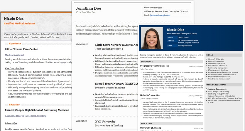 Resumes are an important tool in any job search, and they can make or break you as a candidate. Resume Maker Create A Standout Professional Resume And Cv