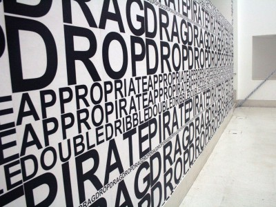 Words wall printed graphic wallpaper