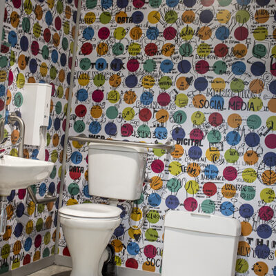 toilet graphic wallpaper