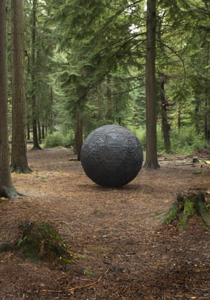 Semiconductor, Cosmos (2014), a public artwork in Alice Holt Forest, Surrey. Commissioned as part of Jerwood Open Forest 2014. Supported by Jerwood Charitable Foundation, Forestry Commission England and Arts Council England. Photograph: Laura Hodgeson