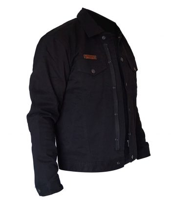 Denim motorcycle Jacket - Black