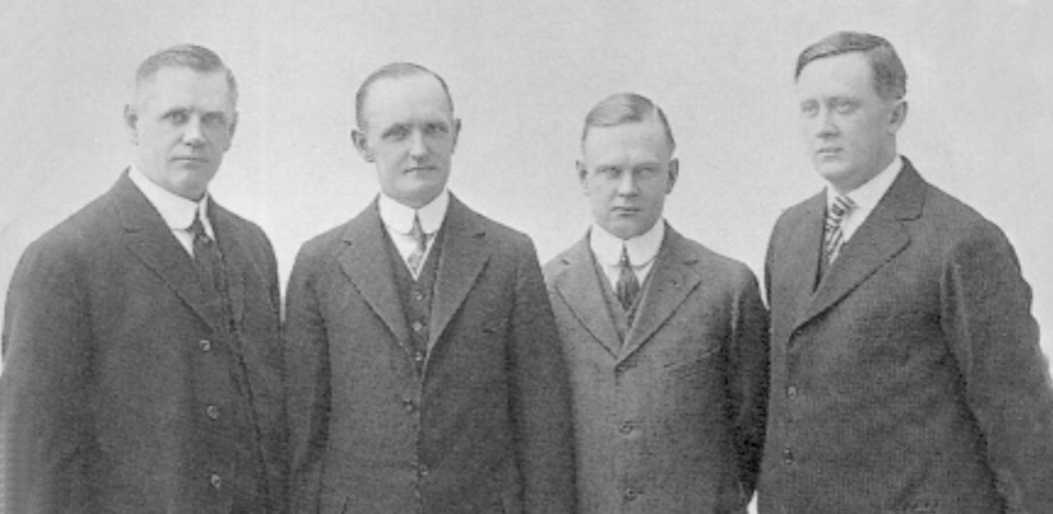 Harley-Davidson founders Team - Arthur Davidson, Bill Harley, Walter Davidson & William Davidson