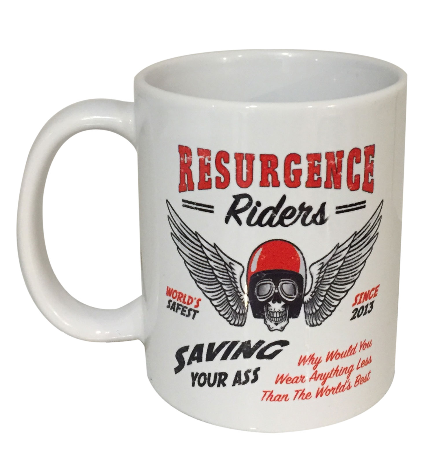 MOTORING MUG : SAVING YOUR ASS