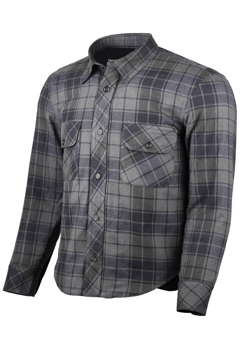 PLAID SHIRT : GREY & BLACK
