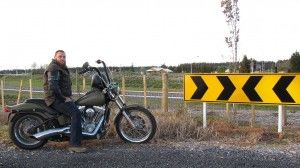 wearing world's safest motorcycle jeans