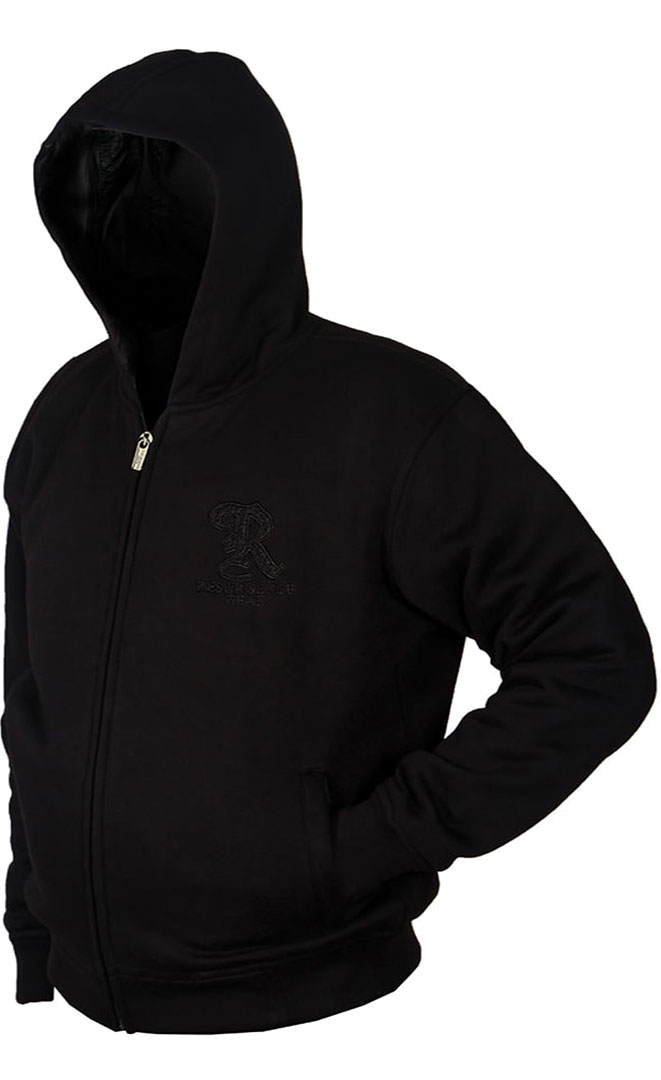 Motorcycle Armored Hoodie - Black - fully PEKEV® lined.