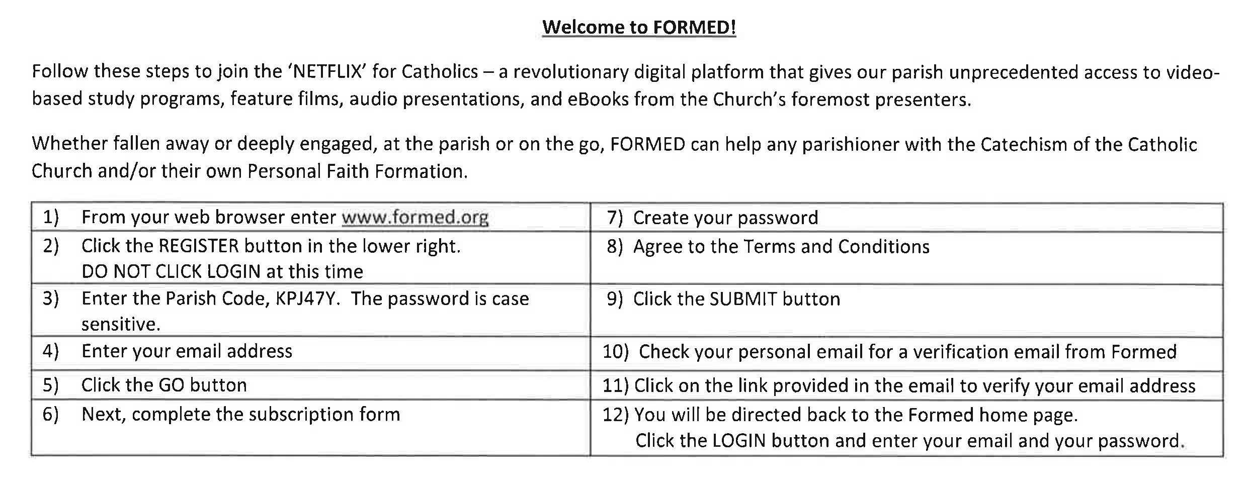 formed app u2013 resurrection catholic church