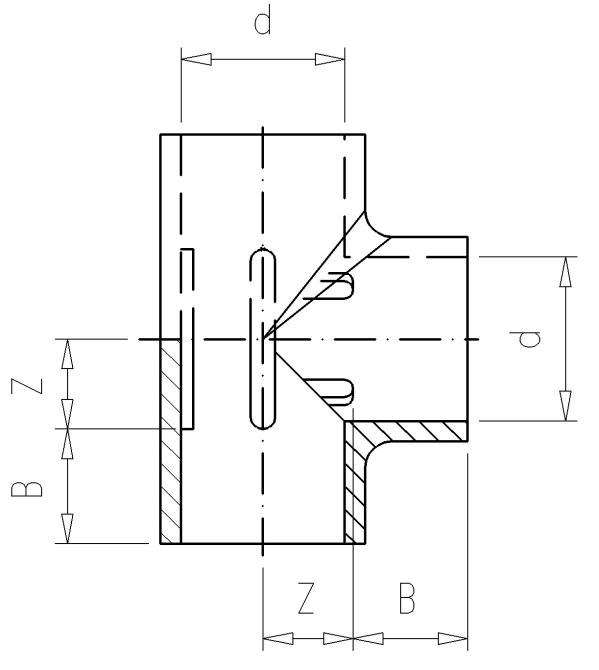 2.01 Тройник 90° PVC-U, Фитинги ПВХ клеевые, VDL ...