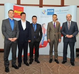 Dennis Biernatzki, Daniel Gross, Oliver Eifler (REWE Romania), Sebastian Metz (AHK Romania), Doru Dima (Profiles International)