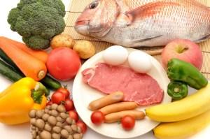 meat, fish, veg&fruits