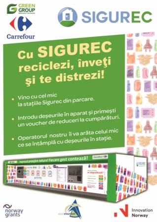 Luna reciclarii inteligente la Carrefour